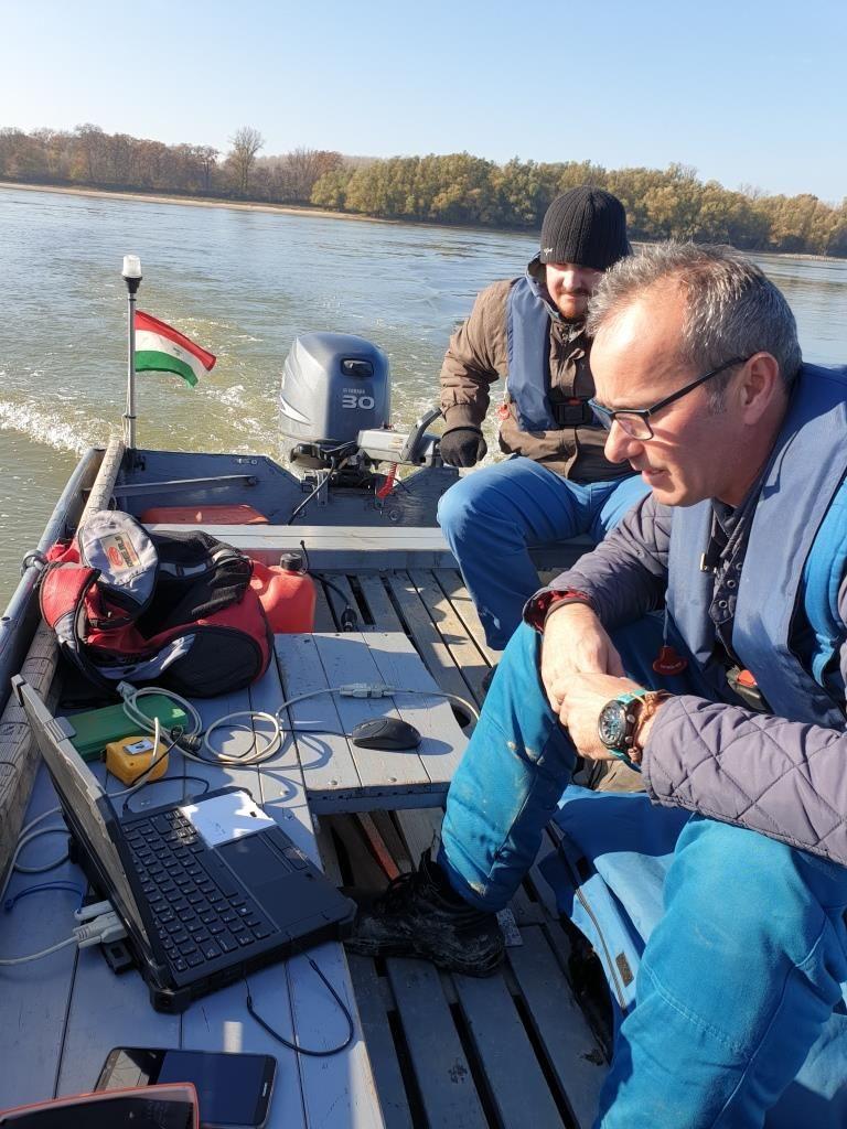 Dunai vízmélység mérések